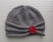 Instant Download Knitting Pattern #87 Rolled Brim Hat in Size Adult