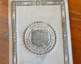 Vintage Tobacciana, Leather, State of Vermont, Cigarette Premium