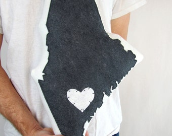 Customizable Maine State Pillow - Free Shipping!