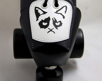 DA-45 Leather Toe Guards with Grumpy Cats