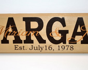 Custom Family Name Plaque