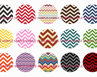 INSTANT DOWNLOAD...Chevron Patterns... 1 Inch Circle Image Collage for Bottle Caps...Buy 3 get 1