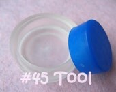 "Cover Button Assembly Tool - Size 45 (1 1/8"") diy notion button supplies rubber hand press non machinery"