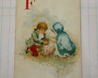 Vintage Logomachy Victorian Playing Card F