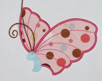 Embroidered Iron On Applique- Butterfly 4