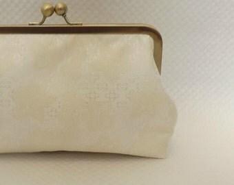 Bridal Clutch - Wedding Clutch - Bridesmaids Clutch - Antique White Bridal Clutch - Wedding Gifts - Bridesmaids Gifts - Coco Clutch