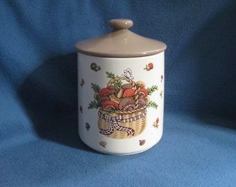 Vintage, 70s, Ceramic, Mushroom, Canister, Cookie Jar