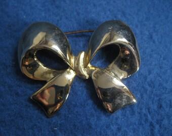 Vintage, 1960s, Golden Bow, Brooch