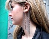 Silver Glory Chain Ear Cuff