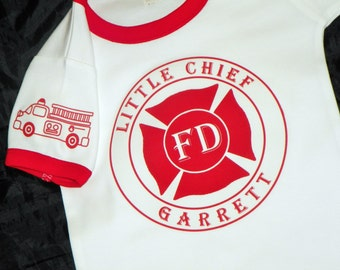 Big Brother or Little Brother Fire Truck Shirt. Fire Truck Baby. Sibling Shirt. Fire Department Big Brother Shirt