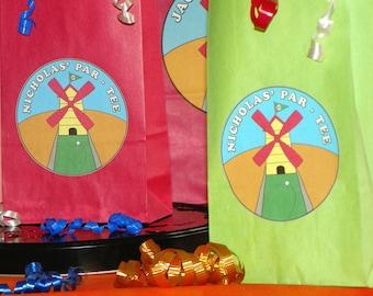 Mini Golf Goody Bags W/Sticker Seals. Mini Golf Loot Bags Favor Bags Gift Bags. Kids Mini Golf Birthday. Set of 10. You Choose Size