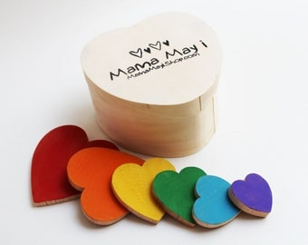 Sizing Hearts - A Montessori and Waldorf Inspired Valentine Size Order Relations Game