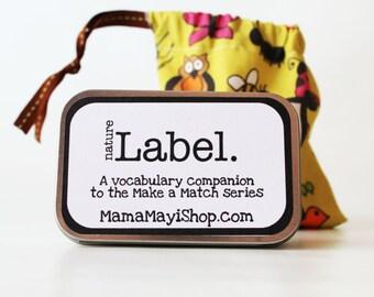 Label - Nature - Montessori Word Relation Game