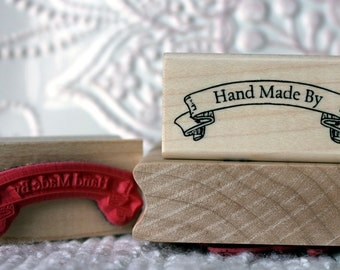 Hand Made by banner rubber stamp from oldislandstamps