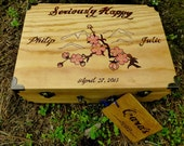 Wedding Card-Gift Box Personalized -small- Anniversary/Engagement