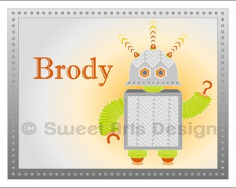 Robot -  Wall Print (or)  Greeting Cards