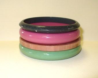 Vintage Set of 4 Bangle Bracelets DEADSTOCK