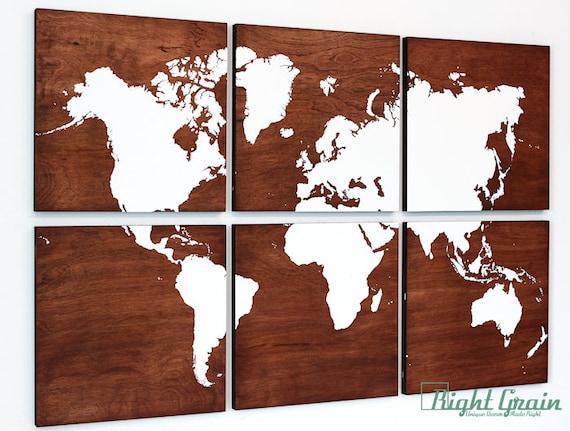 Large World Map Art Large World Map Wall Art on