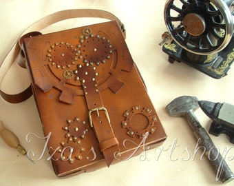 Steampunk Map Case Shoulder Bag