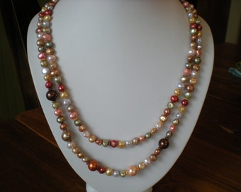 Handmade Pearl Soup Necklace