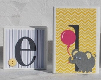Baby Shower Decoration . Yellow and Gray Chevron Modern Prints . Taylor . Maelyn