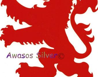 Scottish Rampant Lion vinyl decal