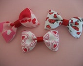 Valentine Set of Three  Bow Tie Hair Bow