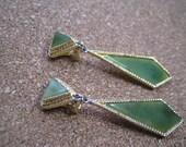 swoboda earrings the jade jadeite nephrite earrings big dangles clip on style