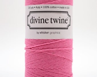 Full Spool - 240 Yards - Solid Pink - Bubblegum - Baker's Twine