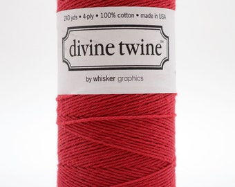 Full Spool - 240 Yards - Red - Deep Red - Baker's Twine