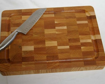 SALE! Cutting Board End-grain Light Color Medium Size
