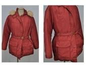 vintage mountain PARKA JACKET coat womens vintage jacket eddie bauer womens DOWN hooded adorable large extra large