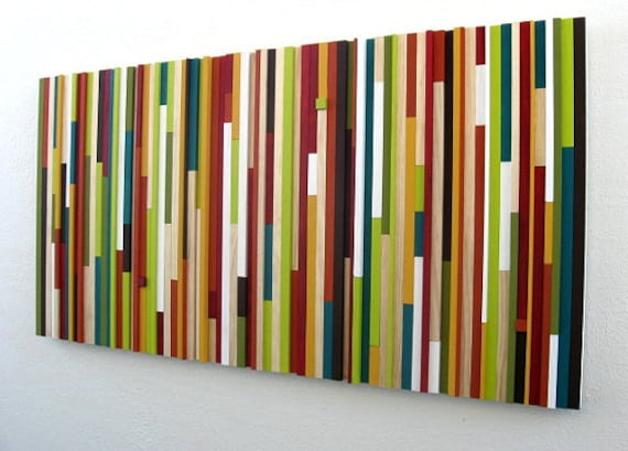 Modern Wood Art - Home Decor - Wood Wall Sculpture