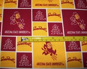 Arizona State University Devils Cotton Fabric - 1 yard