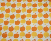 OOP Out of Print Michael Miller Sandi Henderson Farmers Market Yellow Orange Apple Dot Fabric 1 yard Hard to Find