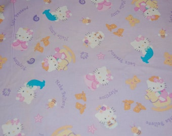 Sanrio Hello Kitty Dress Up Mermaid Cowgirl Ladybug Bee Princess Fabric 1 yard Euro Kawaii Japanese Boutique Fairytale OOP Out of Print