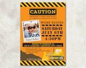 "Birthday Invitation - ""Under Construction"" - a printable invitation for any age"