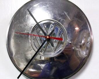 Volkswagen Wall Clock - VW Hubcap - Volkswagon Hub Cap - 8 inch