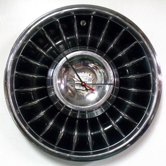 Cadillac Hubcap Clock 1961 Caddy Wall Clock Eldorado