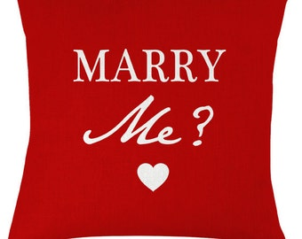 Marry Me words valentine love cushion / pillow