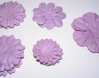 ON SALE  Lavender Paper Flowers