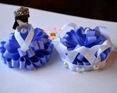 Sofia the First Loopy Puff Set Tiara Princess Clip Purple Bow OOAK