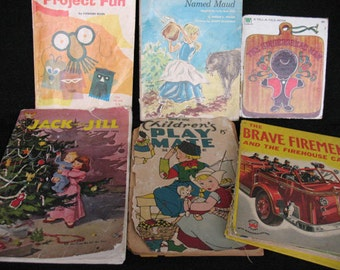 Childrens Books and Mags from 1940's to 1960's for collage, framing