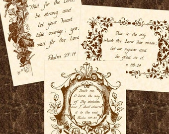 SALE --- 3 FOR 15 DOLLARS  --- Any 8 x 10 Hand Written Calligraphy Art Prints Natural Parchment Sepia Brown Ink Tan Beige For Him Her Home
