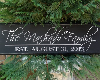 Personalized Family Name Signs, Family Sign