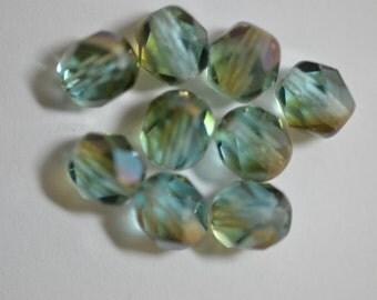 Light Aqua Celsian Czech Glass Beads 6mm (20) Item 1677