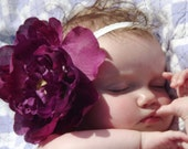 Purple, Large Flower Hair Clip, Hair Accessory