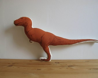 SALE - Silkscreen T-Rex Pillow