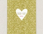 Flecked - Modern and stylish wedding invitation on pearl linen paper