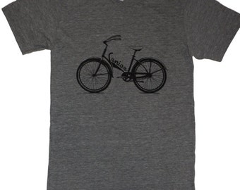 Venice Bicycle Bike T-Shirt Made in USA Tri-Blend Athletic Grey   S   M    L  XL or XXL